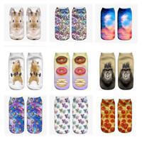 Wholesale Wholesale Galaxy Socks - 3D Printed galaxy Socks Women New Unisex Cute Low Cut Ankle Socks Multiple Colors Cotton sock Women's Casual Charactor Socks