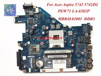 Wholesale laptop motherboards acer online - PEW71 LA P for Acer Aspire Laptop Motherboard MBR4L02001 DDR3 HM55 PGA989 working perfect