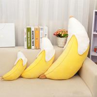 travesseiro de pelúcia banana venda por atacado-Longa casca de banana travesseiro almofada bonito boneca de brinquedo de pelúcia travesseiro decorativo para sofá ou carro criativo almofada de decoração para casa