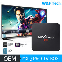 Wholesale Mx2 Google Tv - Hot MX2 MXQ PRO Quad Core Android TV BOX With Customized KD 17.4 TV Box Fully Loaded 4K Media Player
