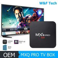 dörtlü amlogic android tv kutusu toptan satış-Sıcak MX2 MXQ PRO Amlogic S905W Quad Core Android 7.1 TV KUTUSU Ile Özelleştirilmiş 18.1 4 K Medya Oynatıcı