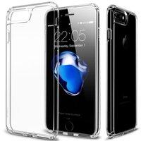 ingrosso nero chiaro hard iphone-Nuovo caso di arrivo per iPhone 7 7 Plus, Jet Black Soft TPU Paraurti Crystal Clear antiurto Hard PC cover Hybrid per iPhone7 7Plus