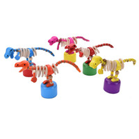 Wholesale Dancing Baby Toy - Wholesale- Small Baby Kid Toys Wooden Dancing Standing Rocking Dinosaur Handcrafted Developmental Toy for Children