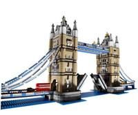 Wholesale Tower Bridge Model - 4295Pcs LEPIN 17004 Creator Expert London Tower Bridge Model Building Kits Blocks Bricks fun Toys Gift Compatible 10214