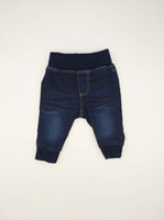 Wholesale Wholesale Clothing Skinny Jeans - Baby Jeans Boys Pants Dark Blue Fit Denim Causal High Quality 0M to 9M Infant Clothing