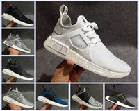 Wholesale packing boxes sizes - [With Box] Men & Womens 2016 top quality NMD XR1 Glitch Black White Blue Camo Pack ultra boost man running shoes sports shoes size Eur 36-44