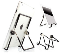 Wholesale Holder Mount For Ipad - Wholesale 5 pics Folding Big Size 10 inch Tablet Metal PC Stand Mount Holder Multi-angle Non-slip For ipad pro 1 2 3 4 5 air1 2 Mini