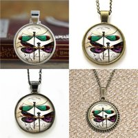 Wholesale vintage style pendants - 10pcs Dragon Fly Vintage Style Cute Dragonfly Pendant 3231 Necklace keyring bookmark cufflink earring bracelet