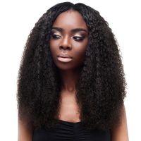 bakire saç kıvırcık kıvırcık ön toptan satış-360 Dantel Frontal Peruk Kinky Kıvırcık Brezilyalı Bakire Saç 150% Yüksek Yoğunluklu 10A Sınıf İşlenmemiş İnsan Saç Kısa Uzun Küçük Kıvırcık 360 Peruk