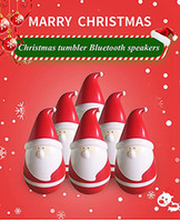 Wholesale Popular Electronics - New Arrival Santa Claus Speaker Christmas Father Tumbler roly-poly mini wireless Bluetooth speakers Popular Toy as Christmas gift Free ship