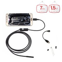 Wholesale Otg Lead - 7mm Lens Micro USB Endoscope Android 1.5m Cable Waterproof OTG Micro USB Android Endoscope Camera 6 LED Inspection Borescope Cam