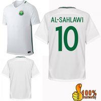 Wholesale Soccer Jersey National - 2017 Saudi Arabia Home Whtie Soccer Jersey 17 18 Saudi Arabia National Soccer Shirt Customized Football Uniforms Sales