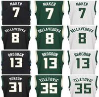 Wholesale Quick Screens - 2017 New Screen Printed 13 Malcolm Brogdon Jersey 7 Thon Maker 8 Matthew Dellavedova 31 John Henson 35 Mirza Teletovic Basketball Jerseys