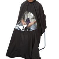 ingrosso abito nero capo-Hot Black Professional Salon Barber cape Parrucchiere Taglio Capelli Abito capo Impermeabile Panno per barbiere Grembiule