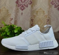 Wholesale Hot Tennis - 2017 NMD Runner R1 Mesh Triple White Cream Pack Men Women Running Shoes Sneakers Discount Hot Sale Fashion Runner Primeknit With Box