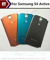 Wholesale I9295 Case - Original Back Door Case Battery Cover Housing Replacement Parts For Samsung Galaxy S4 Active i9295 i537 Free shipping With Logo!!!
