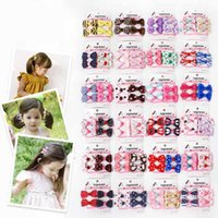 Wholesale Little Plastic Flower - 24 styles Kids hair accessories Sets little girl Bow Flower boutique Hair bows Toddler barrettes Girls Hair Set hairs Clip