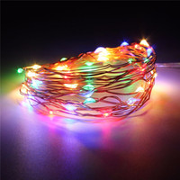 Atacado- 300CM Multicolor Copper Wire Mini LED String Lights Battery Operated LED Fairy Light para Natal Weeding Party Decor DC3V