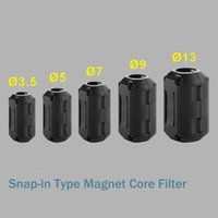 Wholesale Power Ferrite - Convenient lock type Promotion Signal Magnetic Ring Power Cable EMI Suppressor Ferrite Magnet Core Filter Clasp interference filter