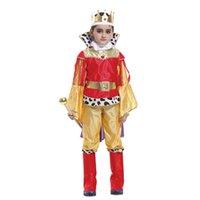 cadılar bayramı için büyüleyici kostümler toptan satış-Shanghai Hikaye çocuk kral cosplay kostüm christma cadılar bayramı Prens Büyüleyici parti elbise, 4-14 yaş çocuklar için suitale