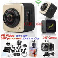 Wholesale soocoo for sale - New camera CUBE S Ultra HD Wifi Action Camera P degree Panoramic VR Video Sport Camera Deportiva Camcorders LCD Helmet Cam
