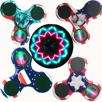 Wholesale Bulb Neon - Ship 1 Day + Luminous Neon Fidget Spinner Hand Spinner Stress Reducer with Green Light Glowing in the dark Perfect For ADD ADHD Anxiety