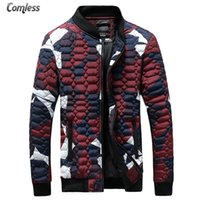 Wholesale Winter White Camouflage - Wholesale- Fashion Men Jackets 2016 Brand Men Camouflage Stars Same Coats Men's Slim Fit Outwear Winter Jackets Clothing Plus Size S-4XL