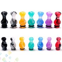 Wholesale Ego Ce4 Vivi Nova - Ming 510 Drip Tips EGO Mouthpiece Vase and Gourd Style Acrylic Drip Tips Colorful fit CE4 CE5 CE6 vivi nova Atomizer E Cig