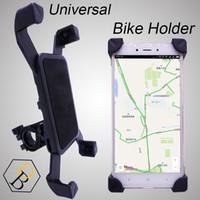 держатель стойки оптовых-Велосипед держатель черный велосипед чехол для мобильного телефона путешествия стенд универсальный аксессуар пластиковая поддержка с 360 градусов вращения для Samsung iphone