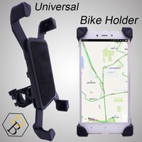 suporte suporte caso stand venda por atacado-Titular da bicicleta caso da bicicleta preta para o telefone móvel suporte de viagem acessório universal de plástico com 360 graus de rotação para samsung iphone