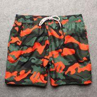 Wholesale Bermuda Cargo Camo - 2017 Camo Printed Brand Men's Beach Board Shorts Bermuda Mens Swimwear Swimsuits Boardshorts Quick Dry Workout Cargo Boxer Trunks Shorts
