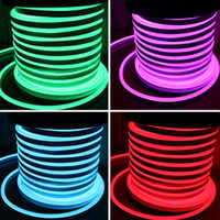 Wholesale Wholesale Neon Flex Rope Light - AC110 AC220V SMD2835 LED Neon Flex Strip Light 5.5W 6W LED Neon Rope Light 90LEDS 120LEDS LED Neon Light