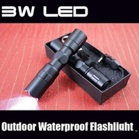 Wholesale Tactical Flashlight Electric - 2016 new LED Mini Flashlights & Torches 3W LED 1AA Led Handy Outdoor Waterproof For Sporting Camping electric torch Aluminum alloy material