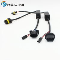 Wholesale H13 Hid Harness - 35W 55W HID Bi-Xenon H13 Wiring Controllers Hi Lo sockets cable wires For HID Kits H13 All in one Relay Harness