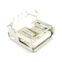 Wholesale Right Angle Pcb Mount Connector - 50pcs lot USB A Type Female PCB Mount Socket Connector Right Angle 4 Pin New Original Free Shipping