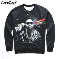 Wholesale Mens High Waisted Shorts - Wholesale-2016 New Letskeep black 3D printing sweatshirt men crewneck Pullover hip hop hoodies mens tracksuit high streetwear hoodie,MA202