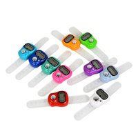 Wholesale Digital Finger Tally Counters - Wholesale-1Pcs 1 Digit LCD Digital Electronic Finger Hand Ring Mini Digital Hand Tally Counter
