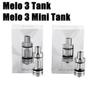 Wholesale Ec Free - E leaf Melo 3 Tank Melo 3 Mini Atomizer Melo III Mini 4ml 2ml Top Filling Airflow Control 510 thread EC 0.3 0.5 ohm coils Free Shipping