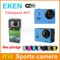 "Wholesale Wholesale Lcd Cheap - EKEN W9s Cheap 4K camera HD 2"" LCD Full HD 1080P 30fps Wifi HDMI WIFI Action Camera 30M Waterproof Camcorders Helmet Sports camera DV colors"