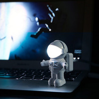 Wholesale Usb Light Computer Lamp - Spaceman Astronaut LED Night Light USB Desk Lamp Computer PC Keyboard Notebook Flexible Book Light Reading Portable Lamp Best Gift