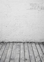 ordinateur de peinture en aérosol achat en gros de-Ordinateur peint blanc brique mur photographie toile de fond Vintage gris bois texture plancher enfants enfants photo fond papier peint