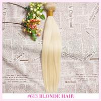 6a sınıf saç toptan satış-Fabrika fiyat sınıf 6A # 613 ışık sarışın Toptan Düz perulu% 100% Virgin İnsan Saç Dokuma 100g 3 Demetleri / lot Saç Uzantıları