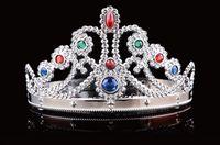 ingrosso principessa re corona-Cosplay Lusso King Queen Crown Fashion Party Cappelli Tire Prince Princess Crowns Festa di compleanno Argento 2 colori con sacchetti OPP