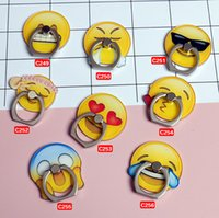 Wholesale Emoji Cellphone Ring Buckles Phone Holder Mount Stand Degree Roating Funny For iPhone Samsung Universal