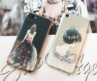 ingrosso abiti da sposa di colore della mela-Mosaico di vestito da cerimonia nuziale dipinto silicone trasparente di TPU Diamante di colore per la cassa del telefono di iPhone 7plus Custodia di iphone 5S 6s 7S DHL libero