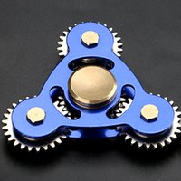 Wholesale Toys Metal Gears - Metal Gear Fidget Spinners Three-Gear Spinner Aluminum Alloy Hand Spinner Metal Gear Spinners EDC Decompression Fidget Toy