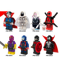 Building spawn lot - 480pcs PG8014 Super Heroes Building Blocks Hydra Captain America Moon Knight Spawn Atom Doctor Strange Building Blocks Toys
