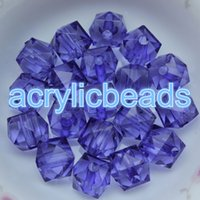 100pcs Factory 10MM Crystal Crystal Faceted Cube Beads Clear Acrylique Square Spacer Beads Charms Jewelry Necklace Making