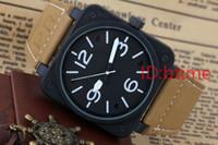 relógios de esporte venda por atacado-Novo estilo dos homens mecânicos automáticos Limited Edition Assista Bell Aviação Men Sport Dive Relógios Preto Caso designer de borracha preta relógio de pulso