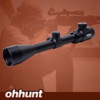 Wholesale Hunting Airguns - Ohhunt 3-9X40 Rangefinder Reticle Red Green Illuminated RifleScope Hunting Crossbow Rifle Scope For .177 .22 Caliber Airguns